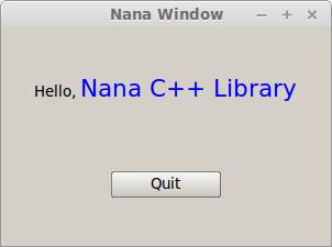 Nana C++ Library - a modern C++ GUI library